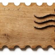 6 Timbru de lemn, 19x25cm, lemn, 2010