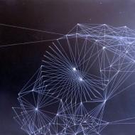 7 conexiuni acrilic pe panza 40 pe 50 cm