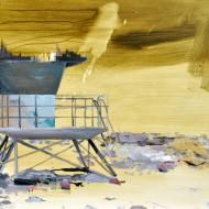 BEACH acrilic ulei pe panza 80x100 cm 2015