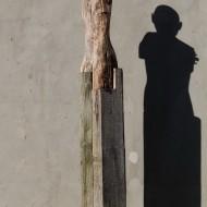 Catalin Oancea, Corbul, 170x30x30cm, lemn si metal