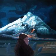 IOANA URSA, Plimbare de noapte, 50x60cm, ulei pe panza, 2015