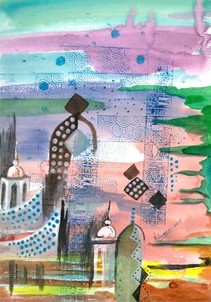 Inspiration IV (28x20.5cms)Acrylics on Paper