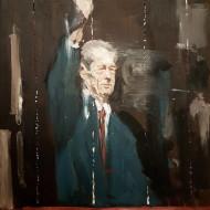 Liviu Mihai, Salutul Regelui, 50 x 40 cm, ulei pe panza, 2014