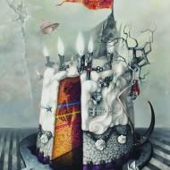 Peace Off Cake, acrylic on canvas, 100x80 cm