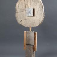 Pomn vietii II_lemn, alama (95x45x15)