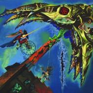 Saint George, The Dragon, acrylic on canvas,70x60cm