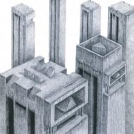 Sorin Nistor, Brutalism 1, 44x34cm, creion pe hartie