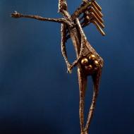 vreau sa zbor bronz 71x46,5x13,5 cm